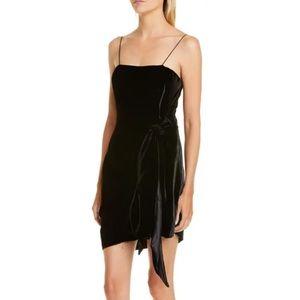 NWT Cinq a Sept Kiki Knotted Velvet Mini Dress